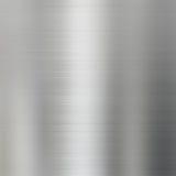 Geborstelde de textuurachtergrond van het staalmetaal Stock Foto