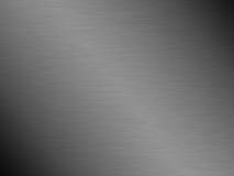 Geborstelde de textuurachtergrond van het staalmetaal Stock Foto's