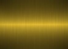 Geborstelde gouden metaalachtergrond Stock Foto's