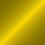 Geborstelde gouden metaalachtergrond Stock Afbeeldingen