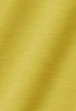 Geborstelde gouden metaalachtergrond Royalty-vrije Stock Foto's