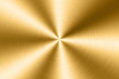 Geborstelde gouden metaalplaat Royalty-vrije Stock Afbeelding