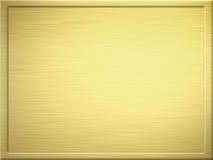 Geborstelde gouden metaalplaque stock illustratie