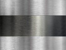 Geborstelde metaal industriële achtergrond Stock Afbeelding