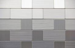 Geborstelde Roestvrij staal Vierkante Rechthoekige Geometrische Vormen Royalty-vrije Stock Fotografie