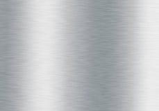 Geborstelde zilveren metaalachtergrond Stock Afbeelding