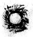 Geborstelde zon of orb met spat royalty-vrije illustratie