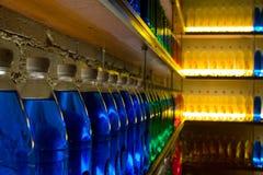 Gebotteld licht Stock Foto's