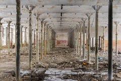 Gebouw van een verlaten fabriek Royalty-vrije Stock Afbeeldingen