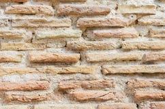 Gebouwde bakstenen muur. royalty-vrije stock afbeelding