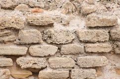 Gebouwde bakstenen muur. royalty-vrije stock afbeeldingen