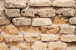 Gebouwde bakstenen muur. stock foto's