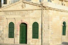 Gebouwde zeewater distillerende installatie, 1881 Sliema, Malta Royalty-vrije Stock Foto's