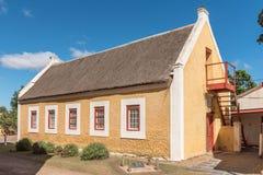 Gebouwde zuigelingsschool in Genadendal, 1830 Stock Foto's