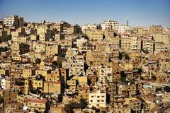 Gebouwen in Amman stad, Jordanië Stock Foto