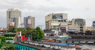 Gebouwen in Baclaran-district, Manilla, Filippijnen Royalty-vrije Stock Fotografie