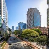 Gebouwen bij Morumbi-buurt in het financiële district van Sao Paulo - Sao Paulo, Brazilië royalty-vrije stock afbeeldingen