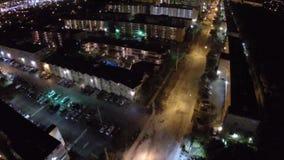 Gebouwen bij nacht stock footage