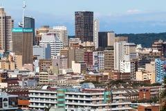 Gebouwen in Centraal Bedrijfsdistrict in Durban, Zuid-Afrika Royalty-vrije Stock Afbeeldingen