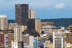 Gebouwen in Centraal Bedrijfsdistrict in Durban, Zuid-Afrika Royalty-vrije Stock Foto