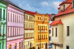 Gebouwen in de oude stad van Trebic, Tsjechische Republiek royalty-vrije stock foto