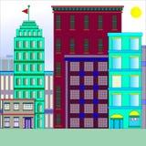 Gebouwen in de stad stock illustratie