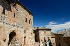 Gebouwen in de stad van San Gimignano in Toscanië, Italië Stock Afbeeldingen