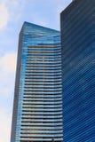 Gebouwen in de stad van Singapore, Singapore Stock Afbeelding