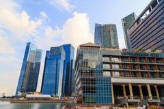 Gebouwen in de stad van Singapore, Singapore - 13 September 2014 Royalty-vrije Stock Afbeeldingen