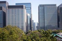 Gebouwen in de stadscentrum van Tokyo stock foto's