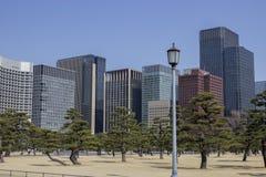 Gebouwen in de stadscentrum van Tokyo royalty-vrije stock afbeeldingen