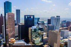 Gebouwen de van de binnenstad van Houston stock fotografie