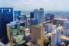Gebouwen de van de binnenstad van Houston stock afbeeldingen