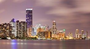 Gebouwen de van de binnenstad van Miami Florida Stock Foto's