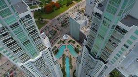 Gebouwen de van de binnenstad van Miami Vizcayne stock video