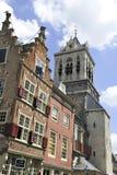 Gebouwen in Delft, Holland Royalty-vrije Stock Fotografie