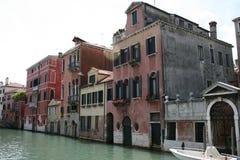 Gebouwen die in Venetië worden gevestigd Royalty-vrije Stock Afbeeldingen