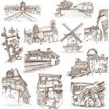 Gebouwen en architectuur royalty-vrije illustratie