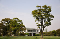 Gebouwen en bomen Royalty-vrije Stock Fotografie
