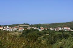 gebouwen en huizen in het dorp Royalty-vrije Stock Foto