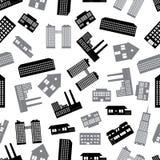Gebouwen en huizenpatroon eps10 Stock Afbeelding