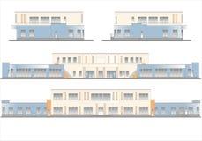 Gebouwen en structuren van de vroege en medio 20ste eeuw Stock Afbeeldingen