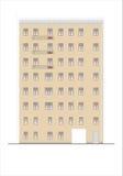Gebouwen en structuren van de vroege en medio 20ste eeuw Royalty-vrije Stock Afbeelding
