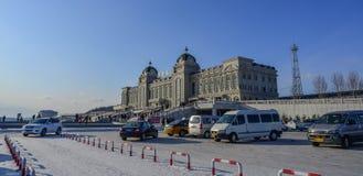 Gebouwen in Harbin, China stock foto