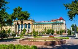 Gebouwen in het centrum van Tashkent, Oezbekistan royalty-vrije stock fotografie