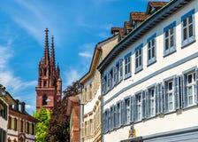 Gebouwen in het stadscentrum van Bazel royalty-vrije stock foto