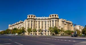 Gebouwen in het stadscentrum van Boekarest stock foto's