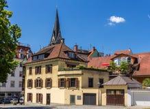 Gebouwen in het stadscentrum van Konstanz, Duitsland royalty-vrije stock afbeelding