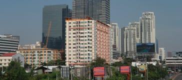 Gebouwen in Huai Khwang-district stock fotografie