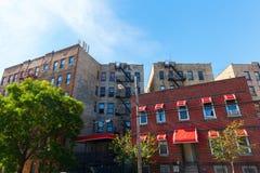 Gebouwen in Jachtenpunt, Bronx, NYC stock foto's
